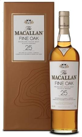 Macallan Sherry Oak Scotch Single Malt 25 Year
